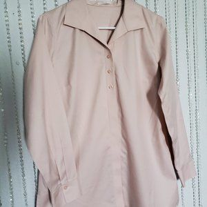 CHICOS Light Pink No-Iron Button Up Blouse/Tunic